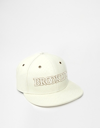 Cayler And Sons Cayler And Sons Brooklyn Leather Snapback Cap White