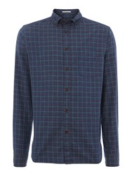 Howick Mansfield Check Long Sleeve Shirt Charcoal