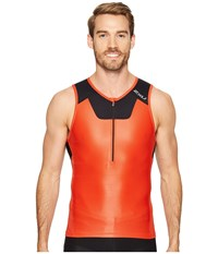 2Xu X Vent Tri Singlet Team Red Black Men's Workout