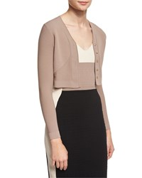 Narciso Rodriguez Button Front Cropped Cardigan Putty Pink Women's