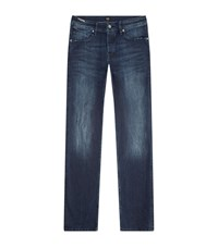 Boss Orange Tapered 90 Distressed Jeans Navy