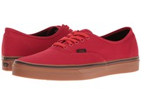 Vans Authentic Gum Racing Red Black Skate Shoes
