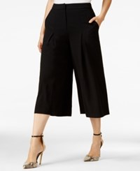 Guess Charles Pleated Gaucho Pants Jet Black