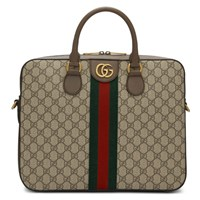 Gucci Brown Ophidia Gg Briefcase