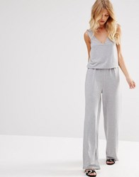Noisy May Layered Jumpsuit Grey
