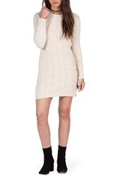 Volcom Women's Chained Down Cable Sweater Dress Vintage White