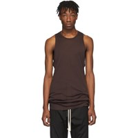 Rick Owens Burgundy Anthem Rib Tank Top