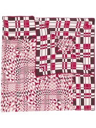 Loro Piana Geometric Print Scarf Red