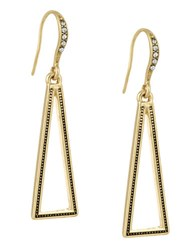 Laundry By Shelli Segal Open Triangle Drop Earrings Gold