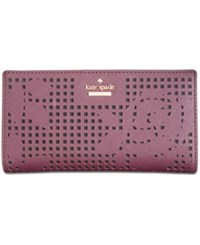 Kate Spade New York Cameron Street Perforated Stacy Wallet Deep Plum