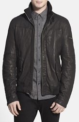 Rogue 'Mustang' Black Leather Moto Jacket