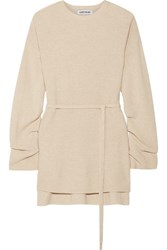 Elizabeth And James Gisella Ribbed Knit Sweater Beige Usd