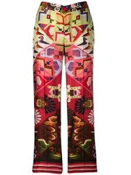 F.R.S For Restless Sleepers Aztec Printed Trousers Red