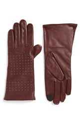 Echo Women's 'Touch Stud' Tech Gloves Oxblood