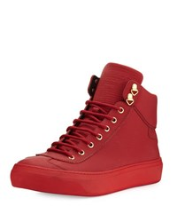 Jimmy Choo Argyle Men's Textured Leather High Top Sneaker