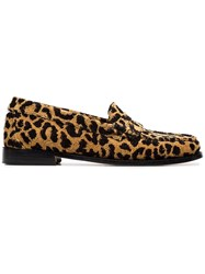 Re Done Leopard Print Fabric Flat Loafers Nude And Neutrals