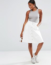 Vero Moda A Line Denim Skirt Snow White