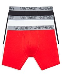 Under Armour Charged Cotton Boxer Briefs Pack Of 3 White Red Black