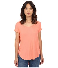 Bench Raparound Short Sleeve Top Fusion Coral Women's Short Sleeve Pullover Multi
