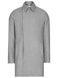 Reiss Retrograde Wool Blend Overcoat Grey