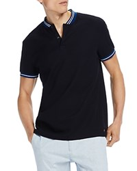 Scotch And Soda Baseball Collar Polo Oxford Black