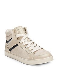 Dr. Scholl's Sawyer Leather Trim High Top Sneakers Moonstone