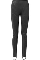 Thierry Mugler Embossed Neoprene Skinny Stirrup Pants Black