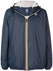 K Way Zipped Wind Breaker Blue