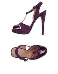 Altiebassi Sandals Deep Purple