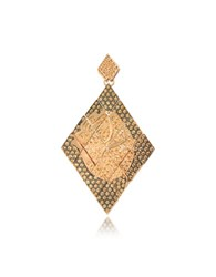 Azhar Rosa Silver And Zircon Mono Earring Gold