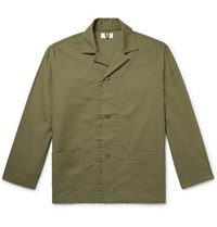 Chimala Camp Collar Cotton Shirt Jacket Army Green