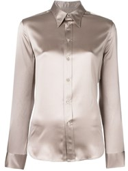 Ralph Lauren Purple Classic Button Down Shirt Nude Neutrals