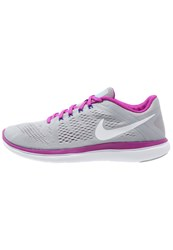 Nike Performance Flex 2016 Rn Lightweight Running Shoes Wolf Grey White Hypr Violet Concord