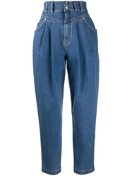 Dolce And Gabbana High Waisted Tapered Jeans 60