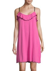 Lord And Taylor Ruffled Chemise Fuchsia