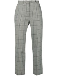 Red Valentino Plaid Tailored Trousers Black