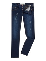 Anerkjendt Men's Jean Slim Fit Mid Wash Jean Denim