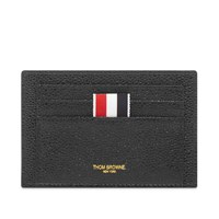 Thom Browne Pebble Grain Leather Double Sided Cardholder Black