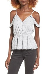 Storee Women's Cold Shoulder Peplum Tank