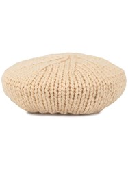 Undercover Cable Knit Beret Neutrals