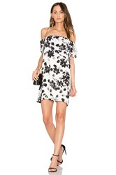 1.State Ruffle Mini Dress Black And White