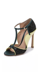 Mary Katrantzou X Gianvito Rossi Multi Colored Sandals Black Yellow