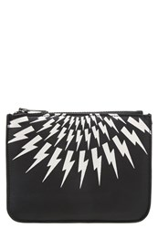 Neil Barrett Wallet Black White