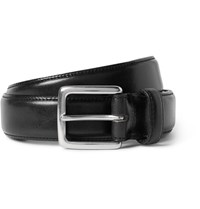 J.Crew 3Cm Black Leather Belt Black