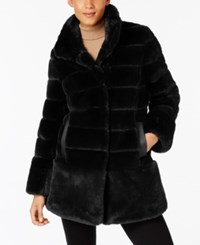 Jones New York Faux Fur Coat Black