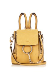 Chloe Faye Mini Suede And Leather Backpack