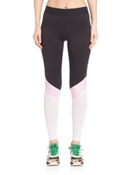 Heroine Sport Cycling Leggings Black White