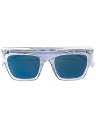 Stella Mccartney Eyewear Square Transparent Sunglasses Blue