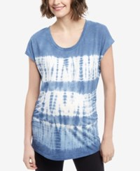 Motherhood Maternity Tie Dye T Shirt Blue