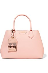 Karl Lagerfeld Lady Shopper Textured Leather Tote Pastel Pink
